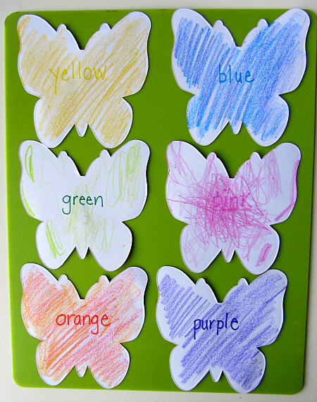 color and match butterflies coloring matching game
