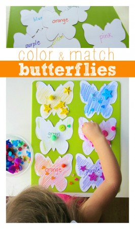 color matching game with butterflies