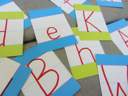 dollar store alphabet activity