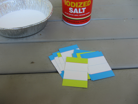 dollarstore salt tray alphabet activity