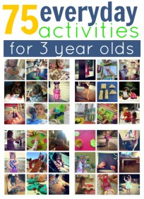 ideas for 3 year olds