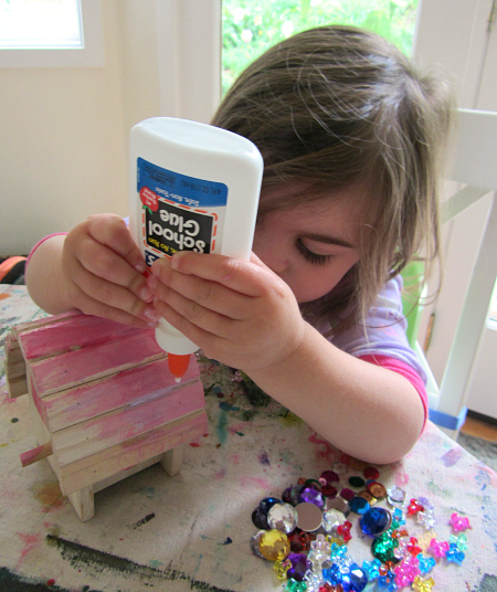 Quick easy fairy house craft for kids no time for for Fast drying paint for crafts