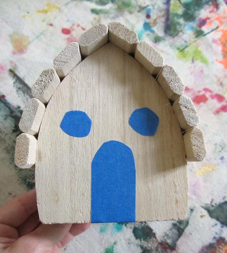 fairy house tape resist