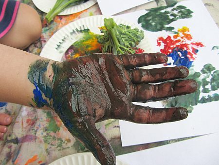happy finger paints