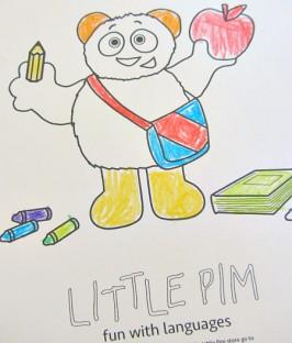 little pim coloring 6