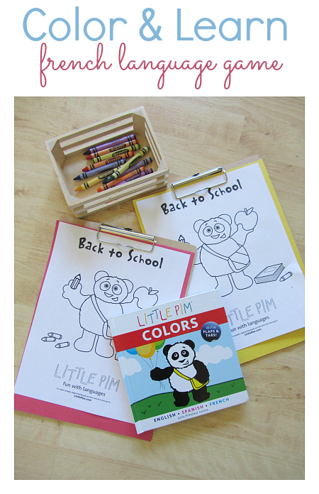 little pim language game with colors book by little pim