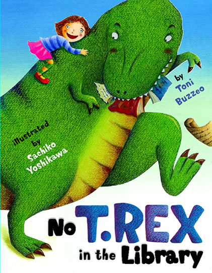 no t rex in the library