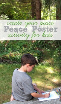 peace poster activity for kids