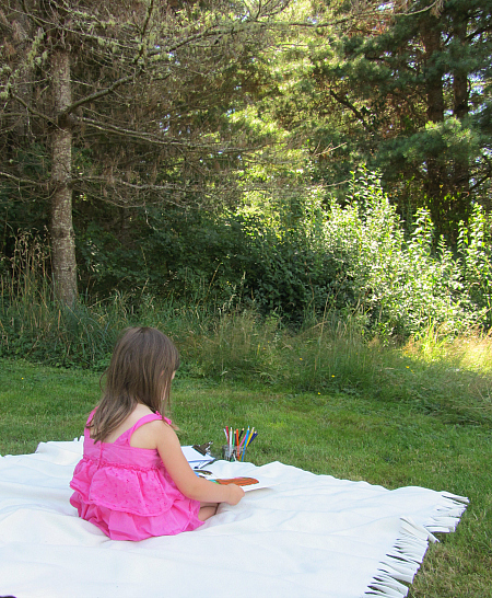 read and draw outside art and literacy activity for kids