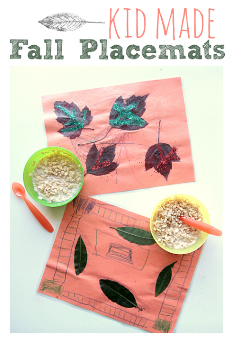Fall Placemat crafts for kids