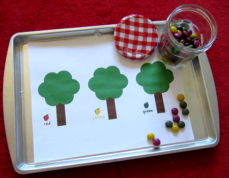 candy apple tree math for preschool