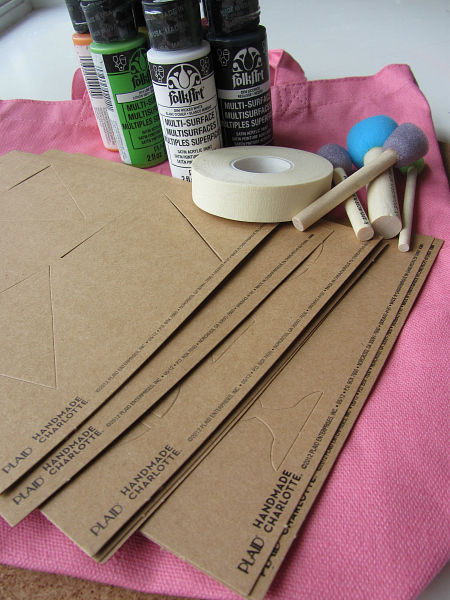 chalk board book bag and cork board supplies