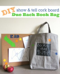 chalkboard library book bag