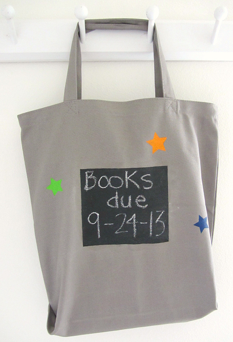 chalkboard paint book bag