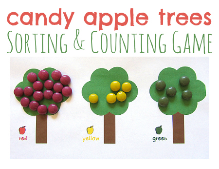 Candy Apple Math Game For Kids - No Time For Flash Cards