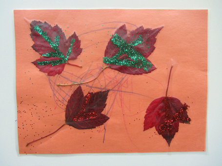 fall leaves placemat craft for kids