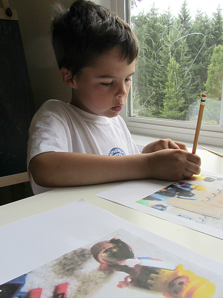 kid made playmobil book