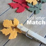 Felt Leaf Letter Match – Alphabet Activity