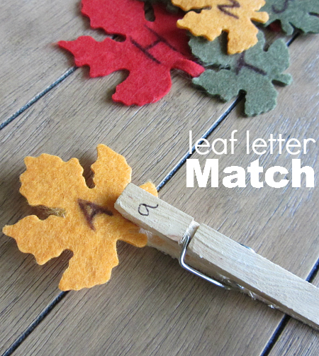 fall letter activity