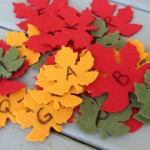 leaf letter recognition activity for preschool