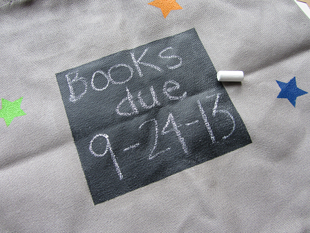 library bag chalk board