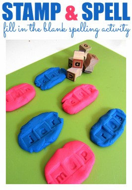 Fill In The Blank Spelling with Playdough