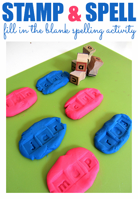 Fill In The Blank Spelling with Playdough   No Time For Flash Cards