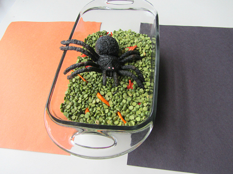 creepy crawly color sorting halloween activity for kids