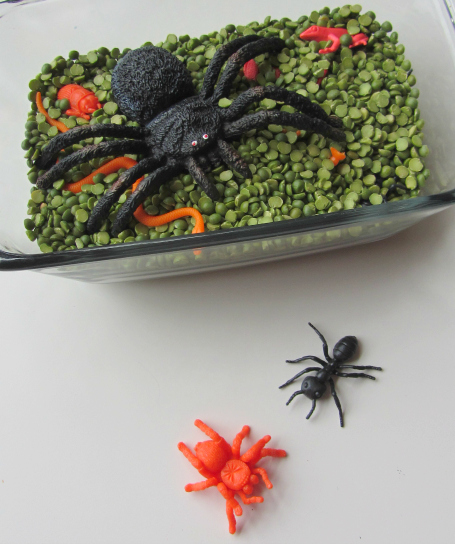 creepy crawly sensory play