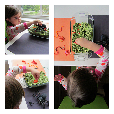 creepy crawly sensory play for halloween