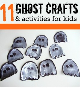 Easy Ghost Crafts & Activities For Halloween