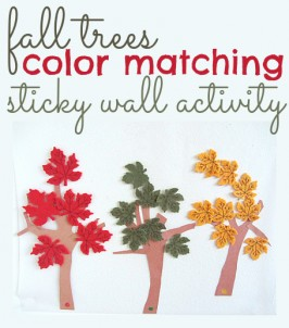 fall leaves color matching activity