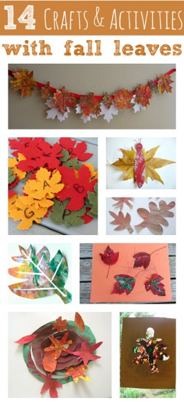 14 Crafts & Activities With Fall Leaves