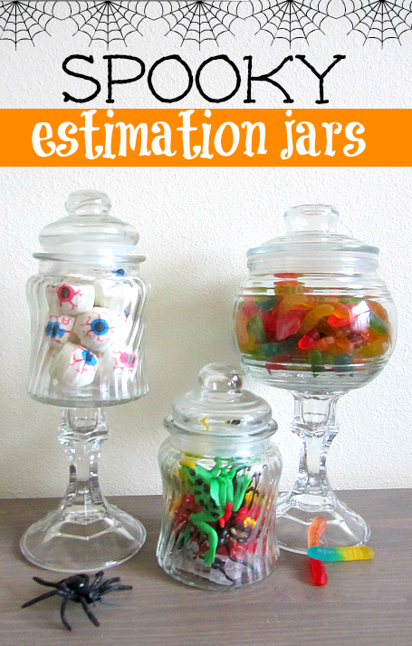 halloween estimation jars for kids - Preschool Halloween Crafts Ideas