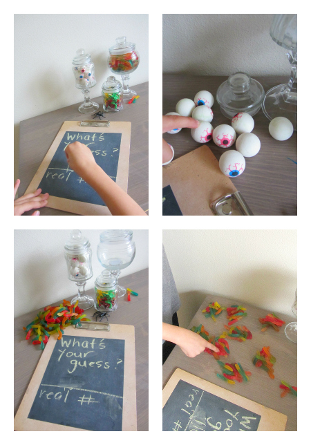 halloween estimation jars for kids how to