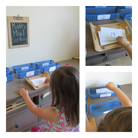 mail math activity sorting