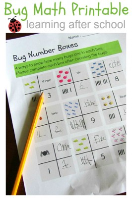 Bug Math Printable { Learning After School }