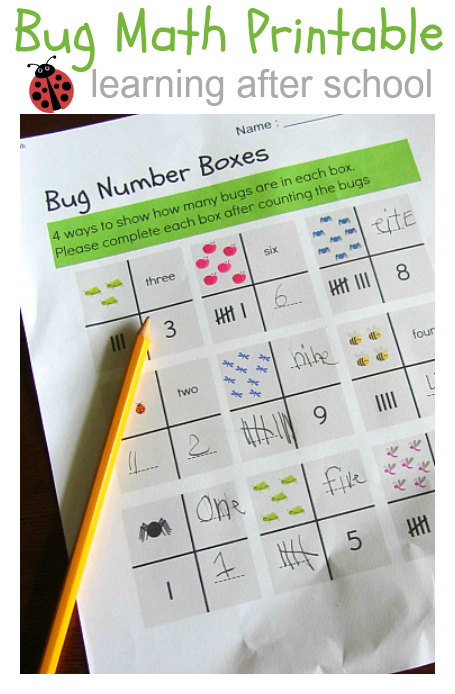 math worksheet for kindergarten