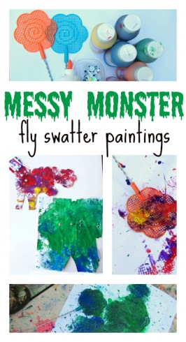 monster painting art project for kids