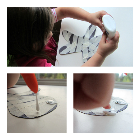 Masking tape mummy craft - glue on the eyes!
