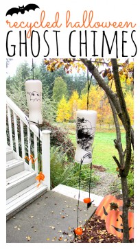 halloween craft with recycled materials