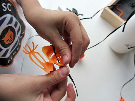 recycled halloween craft for kids with fine motor skills