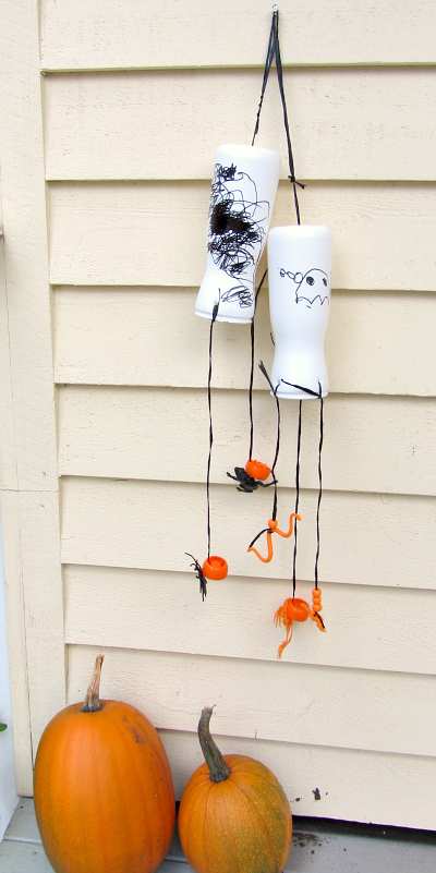 recycled simple halloween craft for kids