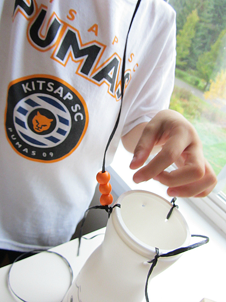 recycled windchimes for halloween