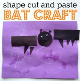 shape bat craft for preschool