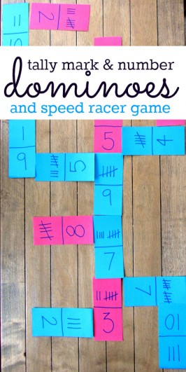 Tally Mark Dominoes & Speed Racer Math Games