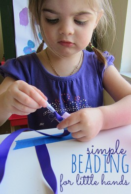 beading with toddlers