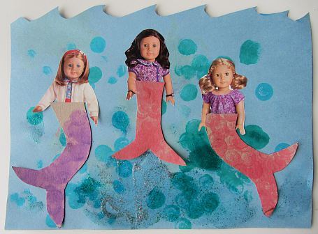 mermaids craft with doll catalog