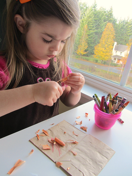 paper bag turkey craft for three year olds