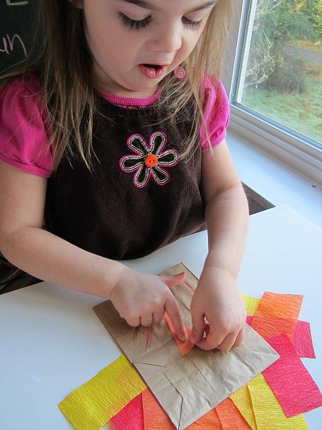 paper bag turkey for kids